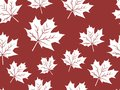 Red maple leaf vector seamless pattern for wallpaper, background, cover, greeting card, fabric textile Royalty Free Stock Photo