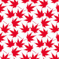 Red maple leaves. Seamless pattern. Canada. Japanese symbolism. illustration Royalty Free Stock Photo