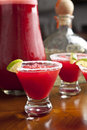 Red margaritas, studio shot Stock Photo