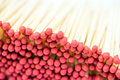 Red Matchsticks Closeup