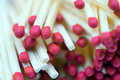 Red Matchsticks Macro Royalty Free Stock Photo