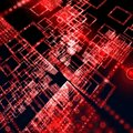 Red matrix wallpaper Royalty Free Stock Photos
