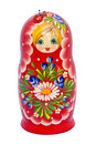 Red Matryoshka Royalty Free Stock Photos