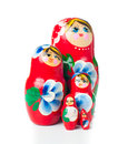 Red matryoshka Russian dolls Royalty Free Stock Photos