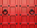 Red Medieval Doors Royalty Free Stock Photo