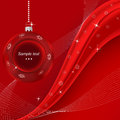 Red merry christmas background. Vector eps10 illus Stock Image