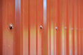 Red Metal Building Siding Royalty Free Stock Photo
