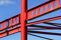 Red metal construction frame Royalty Free Stock Photo