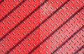 Red metal floor Royalty Free Stock Photo