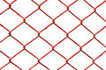 Red metal net isolated white bakcground Royalty Free Stock Photography