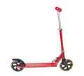 Red metal scooter Royalty Free Stock Photo