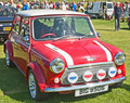 Red mini Cooper at Forres Theme day. Stock Photography