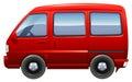 A red minivan