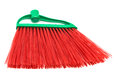 Red and modern broom on white background Stock Photography