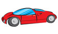 Red modern car vector illustration sports Royalty Free Stock Photos