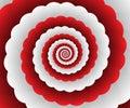 Red Modern Floral Interior Design Hi-tech Graphics Vector Illustration Vector futuristic design Royalty Free Stock Photo