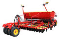 Red modern seeder separately on a white background Royalty Free Stock Images