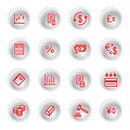 Red money icons Stock Image