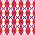 Red mosaic. Seamless pattern.