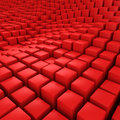 Red mosaic surface with convex effect Royalty Free Stock Image