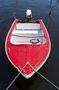 Red motorboat Royalty Free Stock Photo