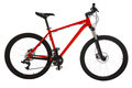 Red mountain bike isolated on white background Royalty Free Stock Photo