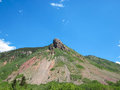 Red mountains in silverton colorado Royalty Free Stock Photo