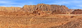 Red mountains in timna park of arava desert national israel panoramic view Stock Photos