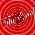Red movie ending screen background vintage other lettering or color can be made upon request Stock Photography