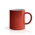 Red mug Stock Images