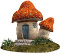 Red mushroom house Stock Image