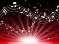 Red music background means musical playing and brightness meaning Stock Photography