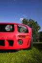 Red Mustang Royalty Free Stock Images