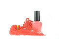 Red Nail Polish Bottle Royalty Free Stock Photo