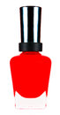 Red nail polish bottle on white Royalty Free Stock Images