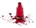 Red Nail Polish And Eye Shadow