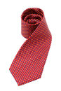 Red neck tie isolated on white background Royalty Free Stock Images