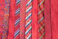 Red neck ties Royalty Free Stock Photo