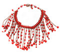 Red necklace Royalty Free Stock Photo