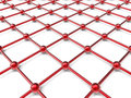 Red network grid