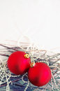Red New Year's spheres Royalty Free Stock Photo