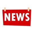 Red News Sign - illustration on white background
