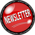 red newsletter button Royalty Free Stock Photo