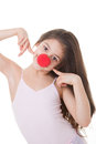 Red nose day kid Royalty Free Stock Photography