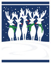 Red nose reindeer nosed christmas scene Stock Image