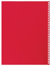 Red note paper, single sheet of blank torn jotter notebook background texture, large detailed vertical isolated copy space Royalty Free Stock Photo