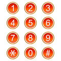 Red numbers icons Stock Photography