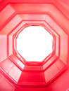Red octagon tunnel Royalty Free Stock Photography