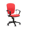 The red office chair isolated over white Royalty Free Stock Photography