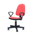 Red office chair isolated over white Stock Photo
